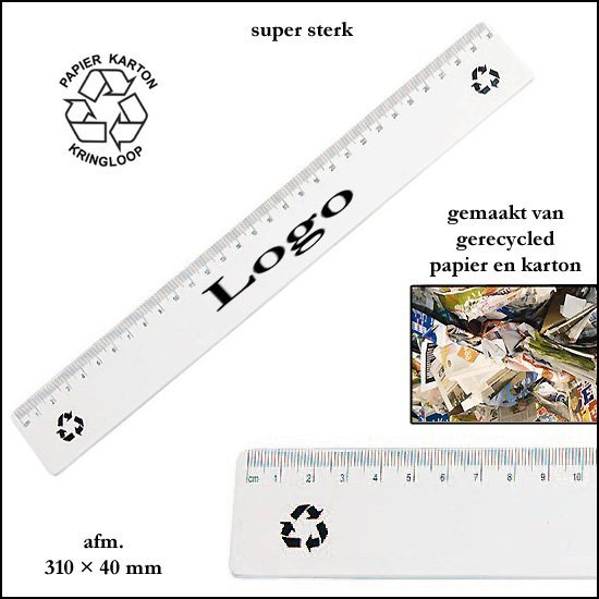 * 5000x Lineaal uit recycled materiaal