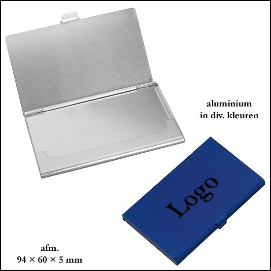 * 1000x Aluminium business card holder