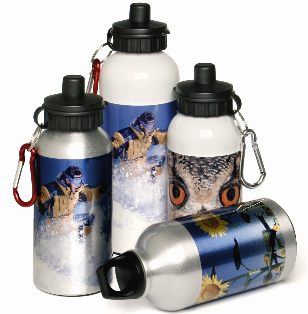 (1) 250x Aluminium sports bottles 400 ml. full colour rondom