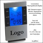 100x multifunktioneel Klok/weerstation/thermometer met verlicht display