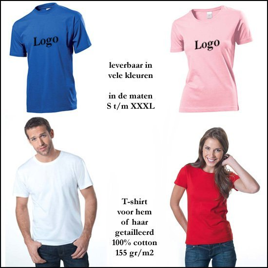 * 500x T-shirts heren of getailleerd