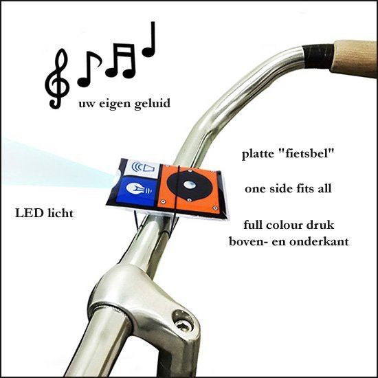 *   2500x Fietsbel-Toeter-Lamp 2 in 1