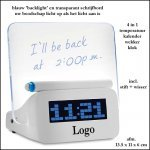 * 100x transparant schrijfbord  'backlight' klok/Kalender/thermometer
