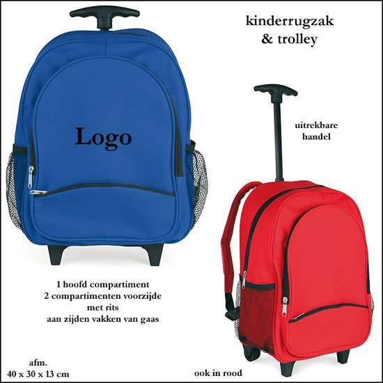 *  100x Kinderrugzak/trolley