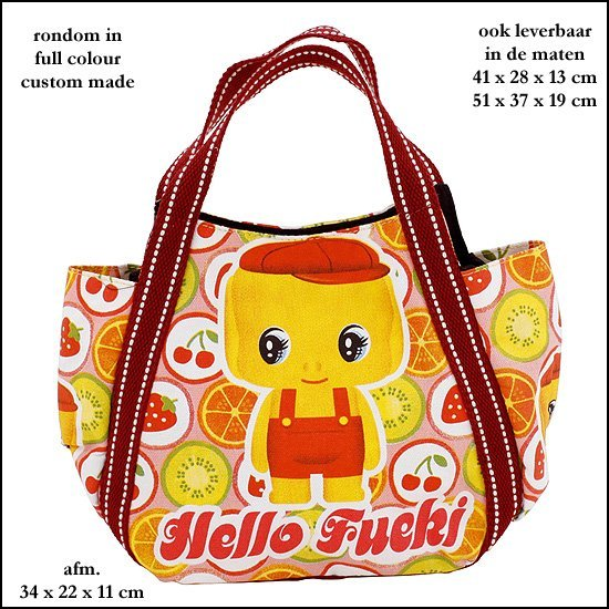 *  5.000x custom made tas in kleuren