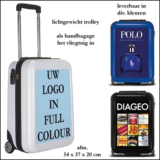 *  100x Trolley met full colour druk