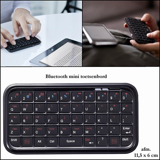 * 100x Bluetooth mini toetsenbord