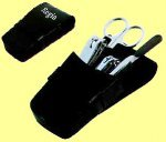 100x manicure set in leder etui