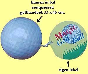 1200x compressed handdoeken in golfballen