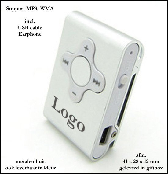 "* 100x actie MP3 model ""blok"" 2 GB"