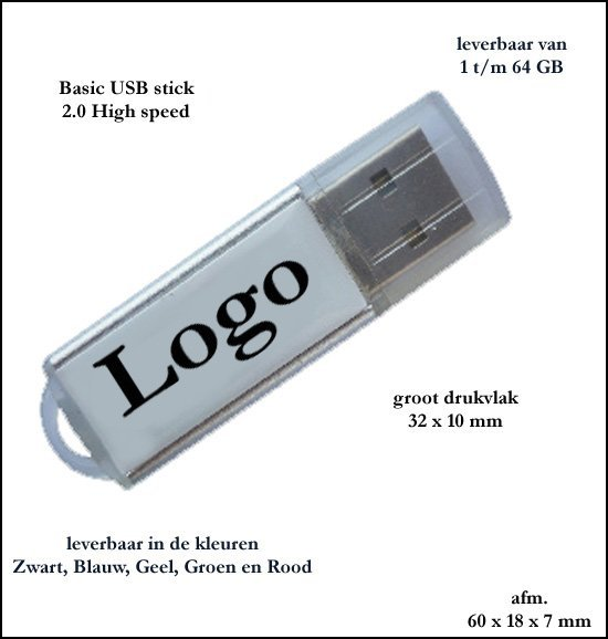 *  1000x AKTIE Basic USB stick 1 GB