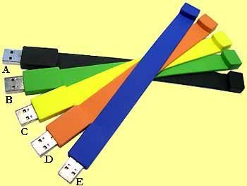250x Flash Polsband USB stick's 128 MB. 2.0