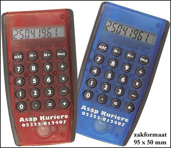 "* 1000x relatiegeschenken Calculator ""Slim"""