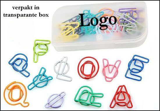 "* 1000x box met Paperclips ""ABC"""