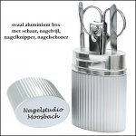 * 1000x ovaal aluminium box incl. nagelverzorgings set