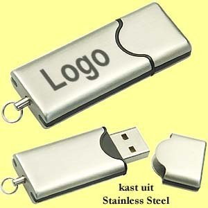 250x USB stainless steel stick's 128 MB 2.0 levertijd in één week