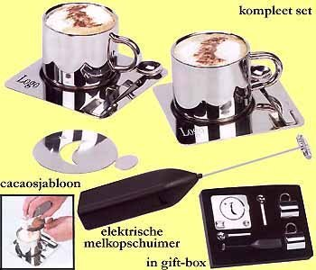 51x koffie/cappuccino 2 pers. gift set