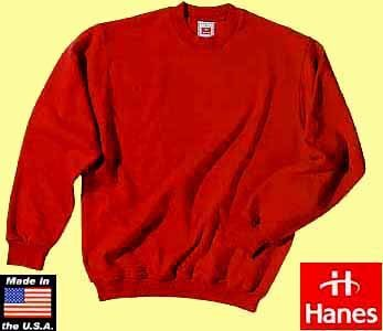 50x Hanes set-in sleeve sweater