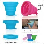 *  2500x inklapbare silicone beker