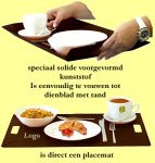 100x dienblad/placemat
