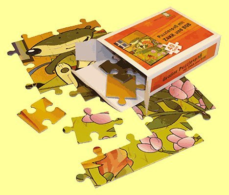 * 3000x Puzzel A6 in opvouwbare doos