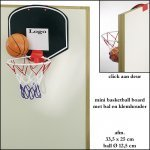*  500x Mini basketball board met bal