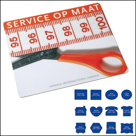 * 1000x full colour thin mousepad ideaal voor mailing