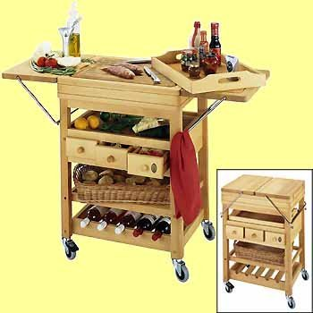houten trolley set