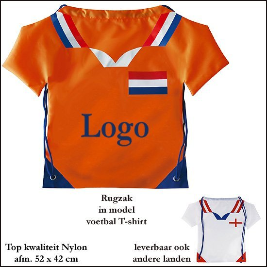 *   1000x Rugzak model voetbal T-shirt