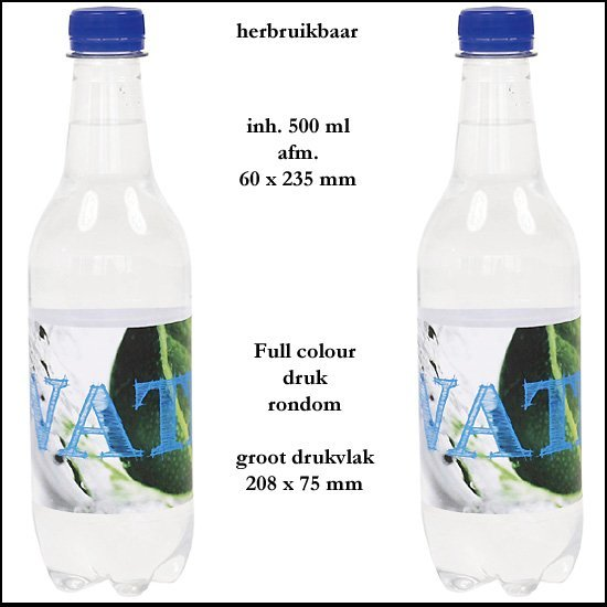 *  1000x Ronde water fles 55 ml.