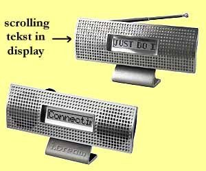 100x scrolling  desk radio