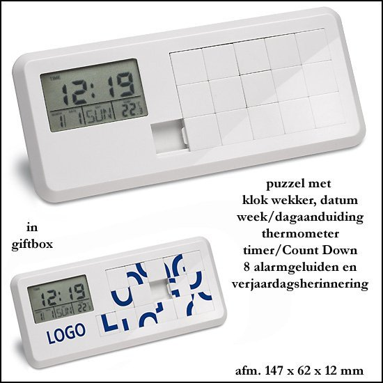 *  250x puzzel/klok/Thermometer/Count Down