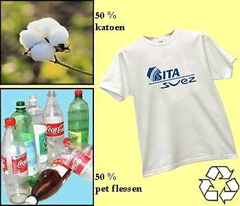 100x recycle witte T-shirts