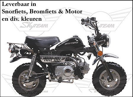 MONKEY SKYMINI 49CC brommer of Snorfiets Skyteam
