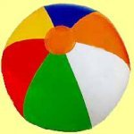 1152x opblaas beachball 24 cm.