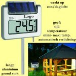 * 25x tuinthermometer met zonneverlichting