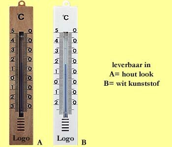 1000x basic kunststof thermometers