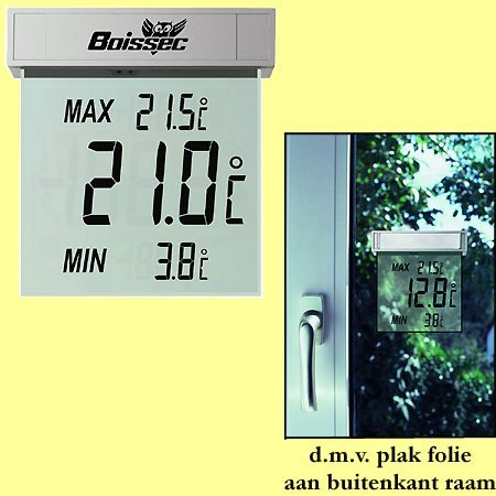 * 100x LCD venster thermometer met mini/max waarden