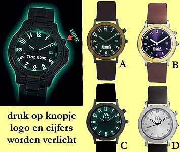 100x light cassic horloge leder band