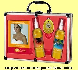 25x compleet suncare transparant deksel koffer