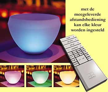 10x mood light rotondo schaal