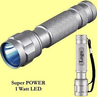 * 100x SUPER POWER 1 Watt LED zaklamp