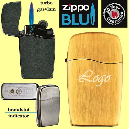 50x Zippo turbo gas vertical gold